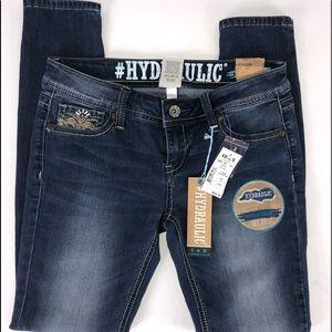 Hydraulic Embellish Skinny Jeans Size 7/8 Women's